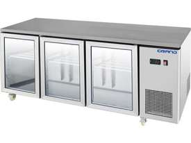 F.E.D. GTR3100BG GRAND True Quality Three Glass Door Gastronorm Work Bench Fridge - picture1' - Click to enlarge
