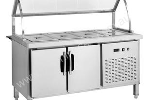 F.E.D. BS6C Chilled Six Pan Bain Marie Fridge