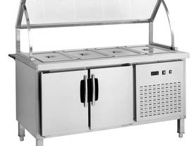 F.E.D. BS6C Chilled Six Pan Bain Marie Fridge - picture0' - Click to enlarge