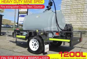 1200L Diesel Fuel Trailer Mine Spec - 12V PIUSI