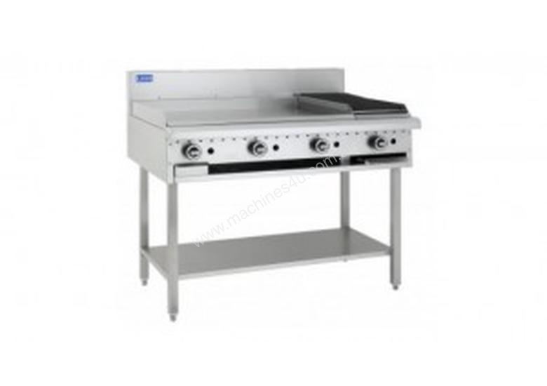 Luus Essentials Series 1200 Wide Grills & Barbecues 900 grill, 300 bbq & shelf