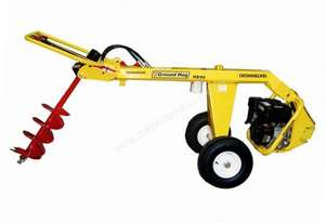Crommelins Subaru One-Man Hydraulic Post Hole Digger with Wheels