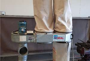CORAL Twin Bag Dust Extractor, Made in Italy, Efficient In-Line Design, Floor Vacuum, Mobile REDUCED