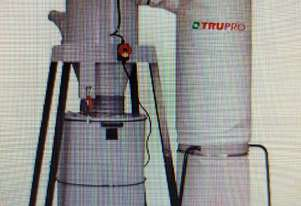 TRUPRO CYCLONE 5hp 2-STAGE DUST EXTRACTOR Taiwan Incl Qty. Metal SPEEDLOCK DUCTING