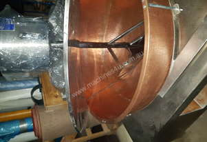 Copper Mixer for food manufacturing 440lt copper bowl double wall oil jacketed, three speed mixer
