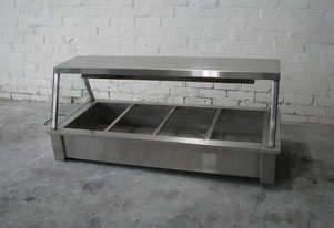 Commercial Stainless Steel Bain Marie Hot Food Bar - 4 Module
