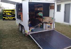 Tandem Axle Fully Enclosed Box Trailer. EMUS NQ