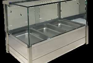BM11SD Heated Wet Six × ½ Pan Bain Marie Square Countertop Display