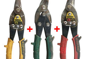 Stanley Fatmax Compound Aviation Snips Set, Straight, Right and Left