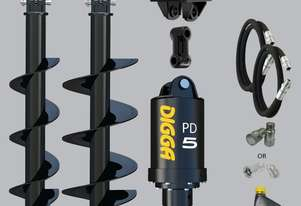 Digga PD5 auger drive combo package mini excavator up to 5.5T