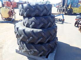 2 X GOODYEAR 12.4R20 SUPER TRACTION AGRICULTURAL TYRES & RIMS & 2 X 14.9R30 AGRICULTURAL TYRES & RIM - picture0' - Click to enlarge