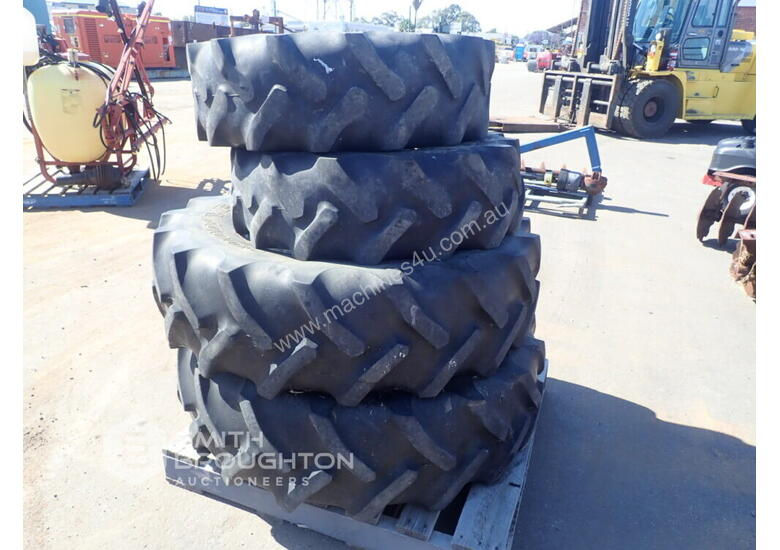 2 X GOODYEAR 12.4R20 SUPER TRACTION AGRICULTURAL TYRES & RIMS & 2 X 14.9R30 AGRICULTURAL TYRES & RIM