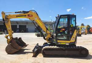 2018 YANMAR VIO82 8T EXCAVATOR WITH LOW 1300 HOURS, FULL CIVIL SPEC AND BUCKETS