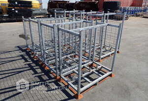 7 X EMPTY TEMPORARY FENCE FLOORING CAGES