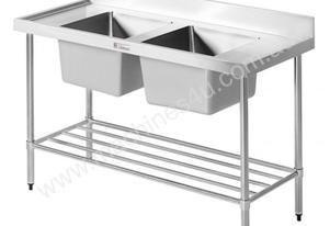 Simply Stainless 2100x600mm Double Sink Bench