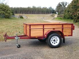 high side timber  box trailer