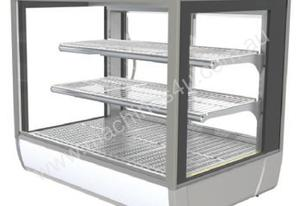 FPG 3H09-SQ-CT-SD Heated Square Counter Top Display w/Sliding Glass Door - 903mm