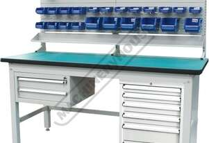 IWB-40P4 Industrial Work Bench Package Deal 1800 x 750 x 1725mm 1000kg Table Top Load Capacity