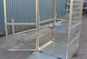 Gas Cylinder Storage Cage with Ramp (Flat Packed)