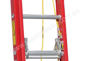 2.6 - 4.1m Fiberglass Extension Ladder