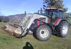 CASE MXM 120 TRACTOR WITH FEL      GOOD CONDITION