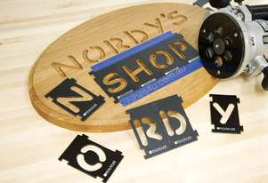 Signmaker's Kit Includes Number Kit, Letter Kit, Bushing & Bit
