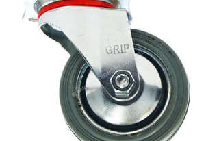43055 - GREY STEEL CORE CASTOR(SWIVEL)