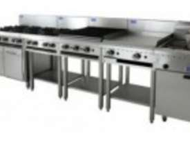 Luus Essentials Series 1200 Wide Grills & Barbecues 600 grill, 600 bbq & shelf - picture0' - Click to enlarge