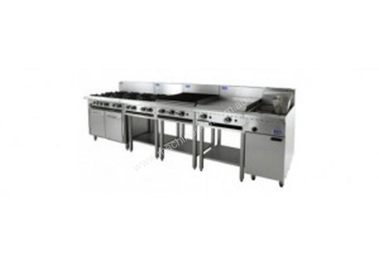 Luus Essentials Series 1200 Wide Grills & Barbecues 600 grill, 600 bbq & shelf