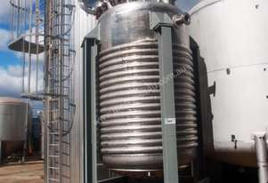 Pressure Vessel Tank (Stainless Steel Jacketed & Mixing), 5,000Lt