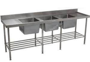 Simply Stainless SS24.2400.TB (600 Series) Triple Bowl Sink Bench