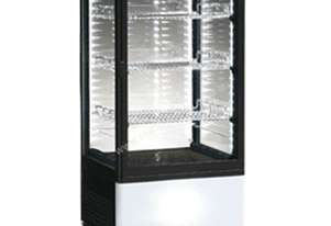 ICS Venice Four Sided Glass Refrigerated Display in Black-Bench Top