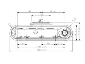 NEW SAMPIERANA 2T EXPANDABLE EXCAVATOR TRACK UNDERCARRIAGE - picture4' - Click to enlarge