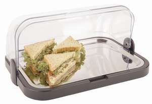 APS Cooling Display Tray Roll Top 205x320x440mm (includes 2 coolers)