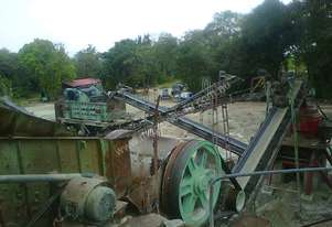 KAWASAKI JAW AND KEMCO CONE CRUSHER WITH COMPLETE PLANT FOR SALE