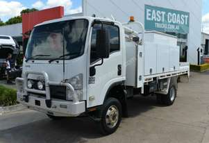 2010 ISUZU NPS 300 Service Vehicle 4x4 Tray Top