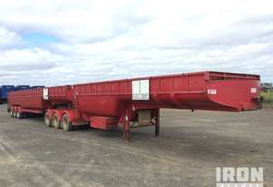 2000 Maxitrans Tri/A B-Double Combination Mepa Flat Top Tanker Trailers