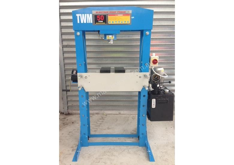 Electric Hydraulic Shop Press 50 Ton