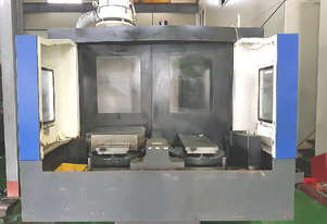 2012 model Hyundai Wia KH-63G twin pallet HMC with 0.001deg indexing, coolant thru spindle and 90ATC