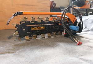 Mini loader Trencher - Oz Digger mini loader attachment