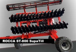 Rocca SupaTill ST-800T Trilling Speed Discs Heavy Duty and Efficient Speed Tillage  Foldable