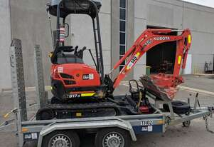 Kubota 1.7t Mini Excavators for hire