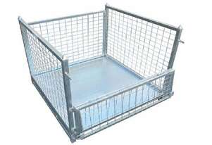 Goods Cage Warehouse Storage Cage Stackable 1000KG Galvanized Sell as Flat-pack