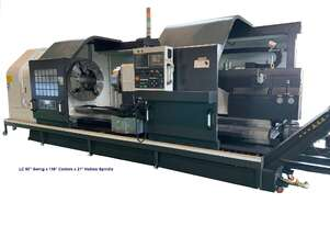 CNC LATHE 21IN HOLLOW SPINDLE MEGABORE 50 IN SWING NEW.