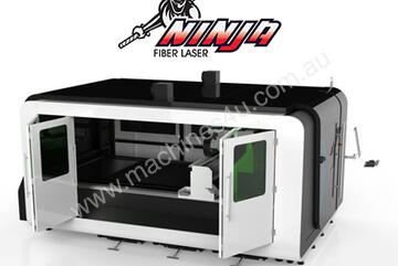 Ninja 1530 Series Fiber Laser. Single pallet, compact machine for when floorspace is at a premium.