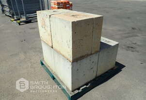 6 X CONCRETE BOLLARDS