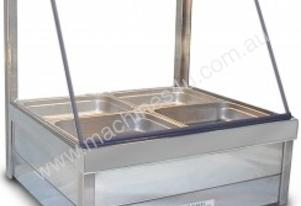 Roband C22 Hot Foodbar Curved Glass Double Row Wit