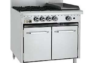 LUUS Gas Oven Range - 6 Burners 300 Grill and Oven