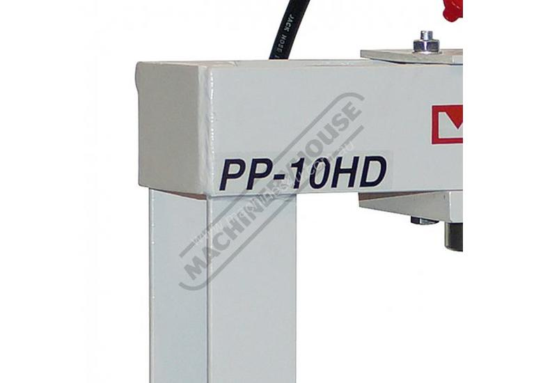 PP-10HD Workshop Hydraulic Press - Bench 10 Tonne Sliding Cylinder Ram