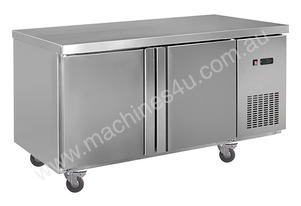 F.E.D. LDWB150C Static Two Door S/Steel Workbench Fridge